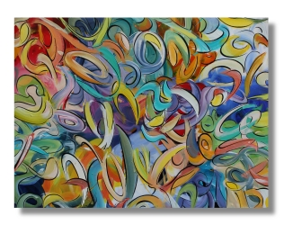 """All Four Sides Of The Moment / 30""""x40"""" (76x100cm)"""